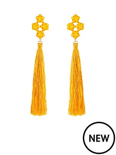 v-by-very-jewel-detail-oversized-tassel-earrings-ndash-yellow