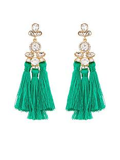 v-by-very-jewel-detail-multi-tassel-earrings