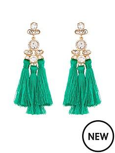 v-by-very-jewel-detail-multi-tassel-earrings