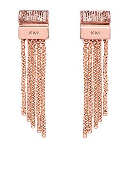 karen-millen-gold-mutli-chain-double-drop-earrings