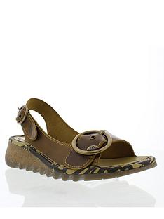 994537703a73 Fly London Fly Tram723fly Leather Low Wedge Sandal