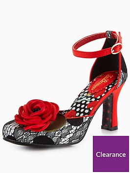joe-browns-opulencenbspcordelia-spot-lacenbsptwo-part-shoe-with-red-corsage-redblack