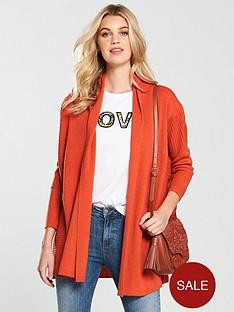 v-by-very-shawl-collar-rib-cardigan-paprika