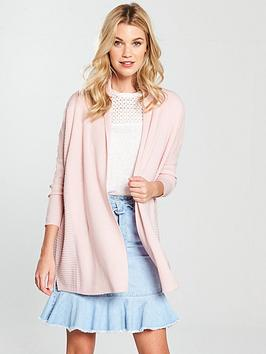 v-by-very-shawl-collar-rib-cardigan-blush-pink