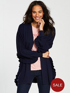 v-by-very-ruffle-detail-batwing-cardigan-navy