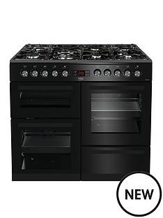 beko-kdvf100k-100cmnbspwide-dual-fuel-range-cooker-with-connection-black