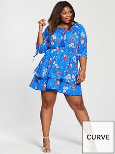 v-by-very-curve-woven-tea-dress-blue