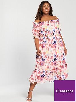 v-by-very-curve-bardot-midi-dress-floral-print