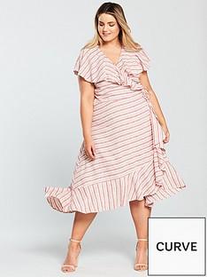 v-by-very-curve-stripe-linen-dress