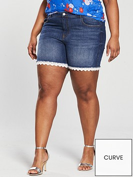 v-by-very-curve-crochet-trim-denim-short-stonewash