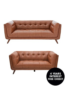 ideal-home-society-3-seaternbspplus-2-seater-premiumnbspleather-sofa-set-buy-and-save