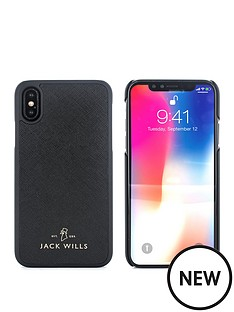 jack-wills-saffiano-inlay-shell-apple-iphone-x-wray-black