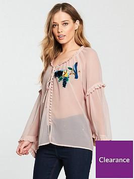 v-by-very-bird-embellished-chiffon-blouse-blush