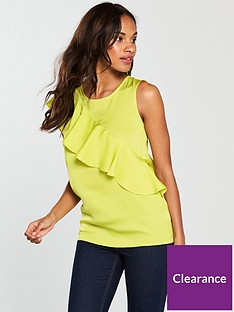 v-by-very-frill-shell-top-chartreusenbsp