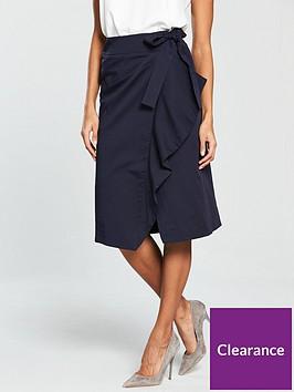 v-by-very-cotton-tie-wrap-skirt-navy