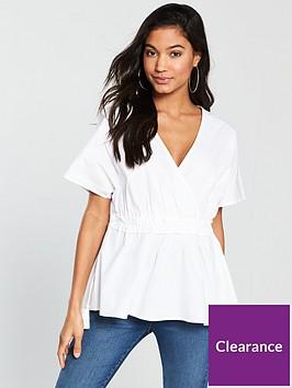 v-by-very-drawstring-waist-smock-top-whitenbsp