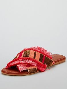 v-by-very-hawaii-cross-strap-slider-pink