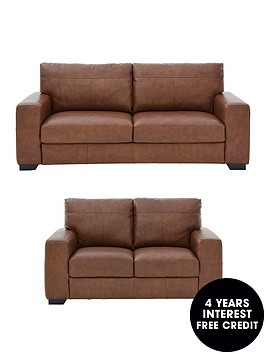 Hampshire 3 Seater 2 Italian Leather Sofa Set And Save Littlewoods