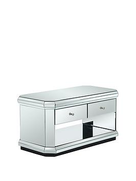 Plinth Mirrored Ready Assembled Storage Coffee Table
