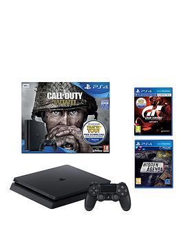 playstation-4-call-of-duty-wwii-slim-500gbnbspblack-console-bundle-withnbspgtnbspsport-hidden-agendanbspand-optional-extras