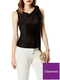 karen-millen-knot-drape-shoulder-top