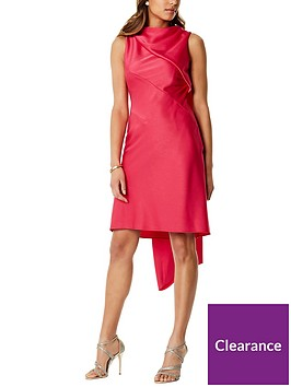 karen-millen-shift-dress-with-train-pink