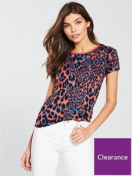karen-millen-leopard-print-knit-top