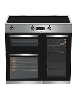 Beko   Kdvi90X 90Cm Electric Range Cooker - Stainless Steel - Rangecooker Only