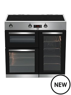 beko-kdvi90x-90-cm-electric-rangecooker-with-connection-stainless-steel