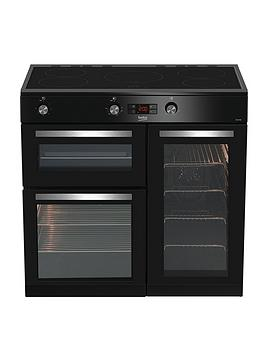 Beko   Kdvi90K 90Cm Electric Range Cooker - Black