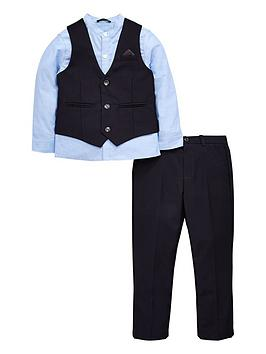 Mini V by Very Mini V By Very Boys Shirt, Navy Waistcoat And Trouser Set Picture