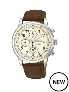 seiko-seiko-mens-stainless-steel-case-brown-leather-strap-watch