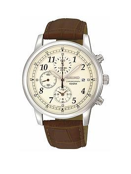 seiko-seiko-mens-stainless-steel-case-brown-leather-strap-watch