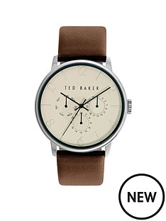 ted-baker-multifunction-dial-brown-leather-strap-mens-watch