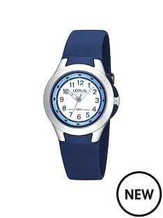 lorus-kids-blue-polyurethane-strap-watch
