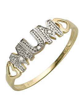 Love GOLD Love Gold 9 Carat Yellow Gold Diamond - Set Mum Ring Picture