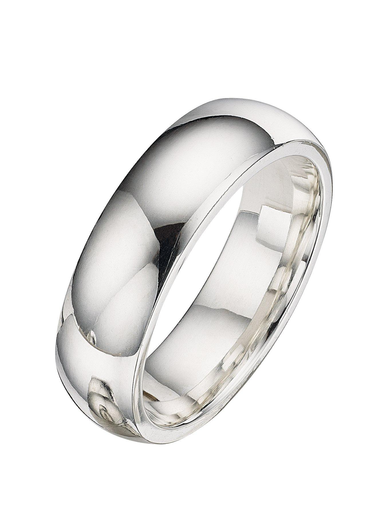 Brand New Argentium 958 Silver Diamond Cut Patterned Wedding Ring Band