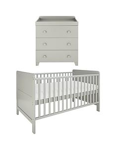 little-acorns-little-acorns-cot-bed-amp-changer-set--grey-buy-and-save