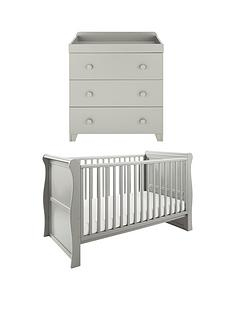 little-acorns-little-acorns-sleigh-cot-bed-changer--grey-buy-and-save