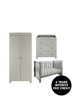 little-acorns-little-acorns-sleigh-cot-bed-changer-wardrobe--grey-buy-and-save