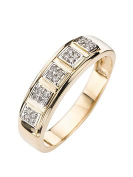 love-diamond-9-carat-gold-15-point-diamond-set-band-ring