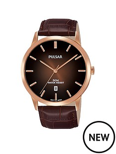 pulsar-pulsar-men039s-analogue-watch-with-a-rose-gold-plated-stainless-steel-case-and-brown-leather-strap-featuring-a-copper-to-brown-dial