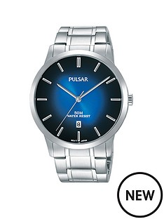 pulsar-pulsar-men039s-analogue-watch-with-a-stainless-steel-case-and-bracelet-featuring-a-blue-to-black-dial