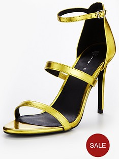 v-by-very-cuba-3-strap-minimal-sandal-gold