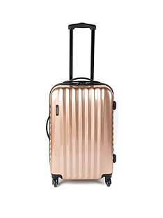 constellation-athena-rose-gold-4-wheel-medium-suitcase