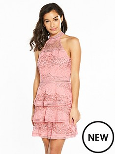 ax-paris-racer-neck-tierednbsplace-skater-dress-pink