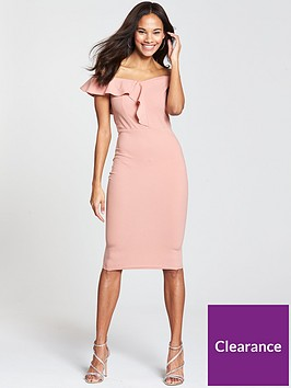 ax-paris-off-the-shoulder-frill-front-midi-dress-blush