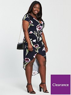 ax-paris-curve-curve-capped-sleeve-wrap-floral-dress