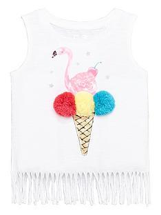 mini-v-by-very-girls-pom-pom-flamingo-fringe-top