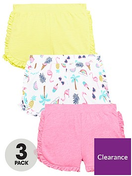 mini-v-by-very-girls-3-pack-jersey-ruffle-shorts